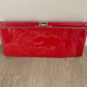 Vintage 1960's Patent Red Clutch